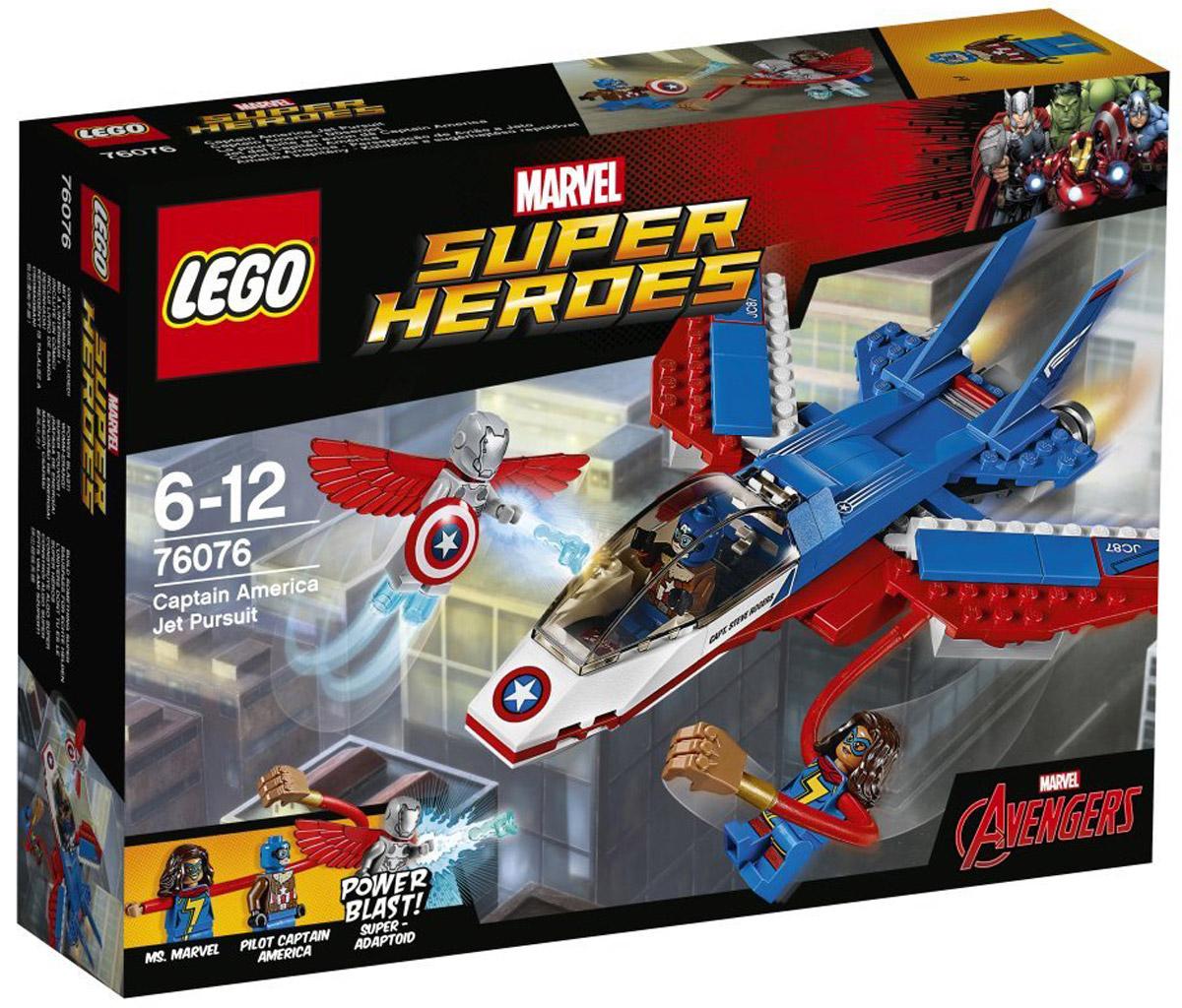 LEGO Super Heroes Конструктор Воздушная погоня Капитана Америка 76076 конструкторы lego lego воздушная погоня капитана америка 76076