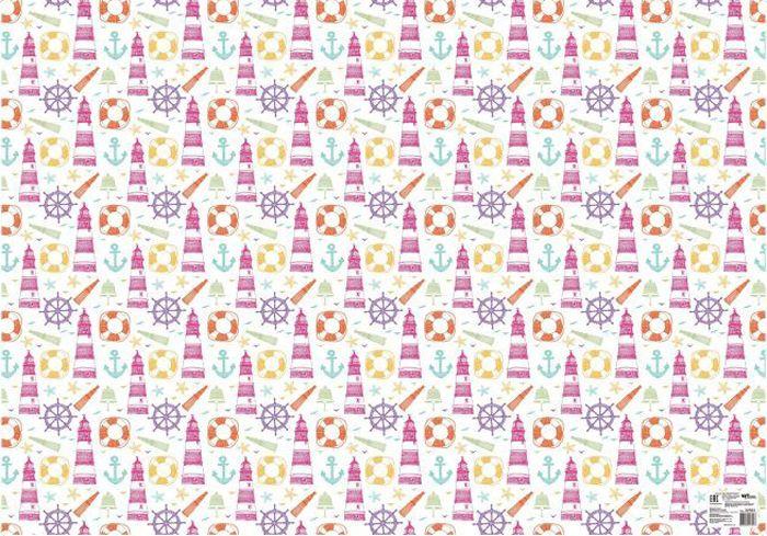 Бумага упаковочная Феникс-Презент Маяк, 100 х 70 см, 20 листов феникс презент