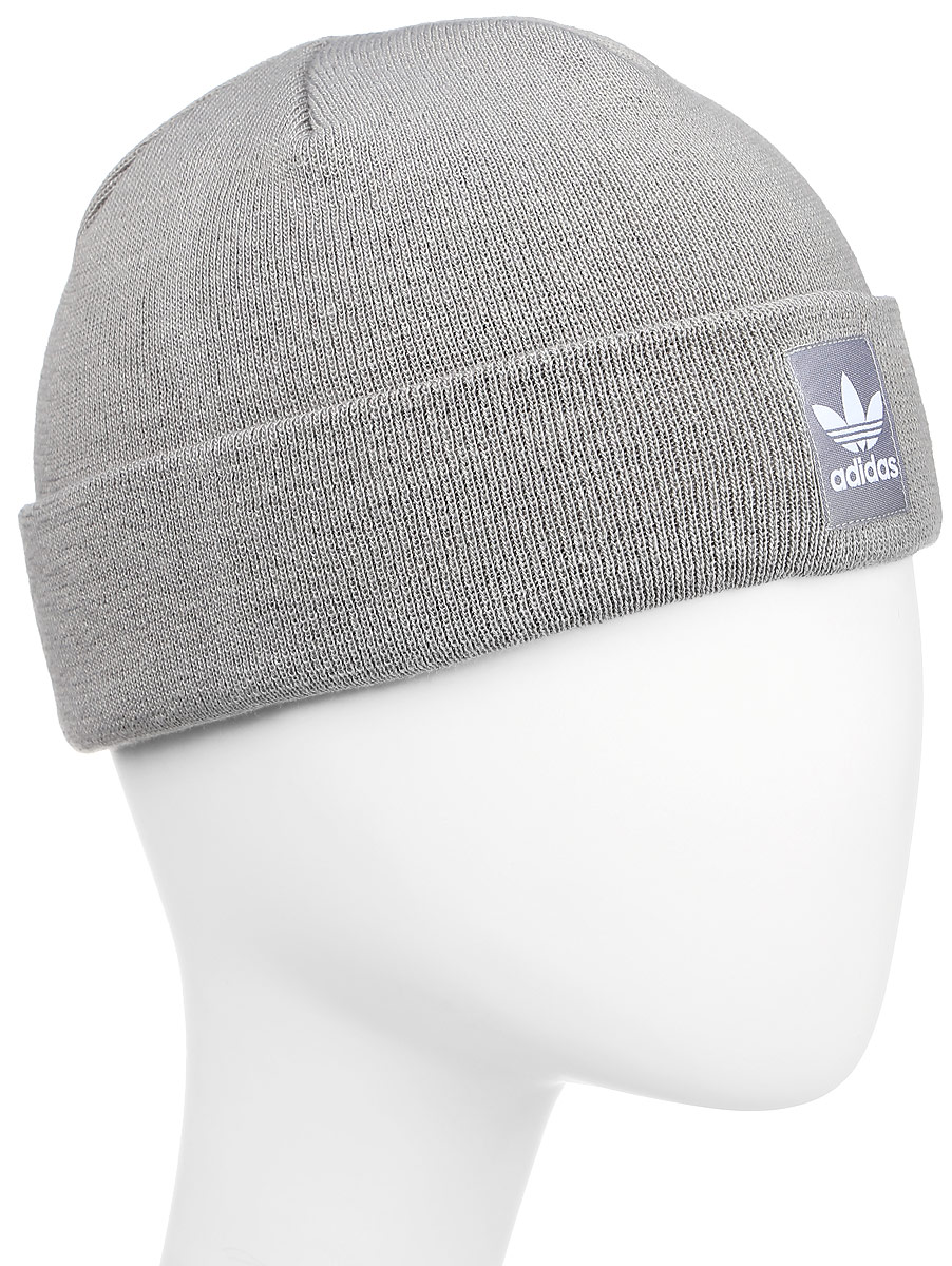 Шапка adidas Rib Logo Beanie, цвет: серый. AY9072. Размер 48/50 2pcs 304 stainless seamless steel capillary tube 5mm od 3mm id 250mm length mayitr for aviation antenna