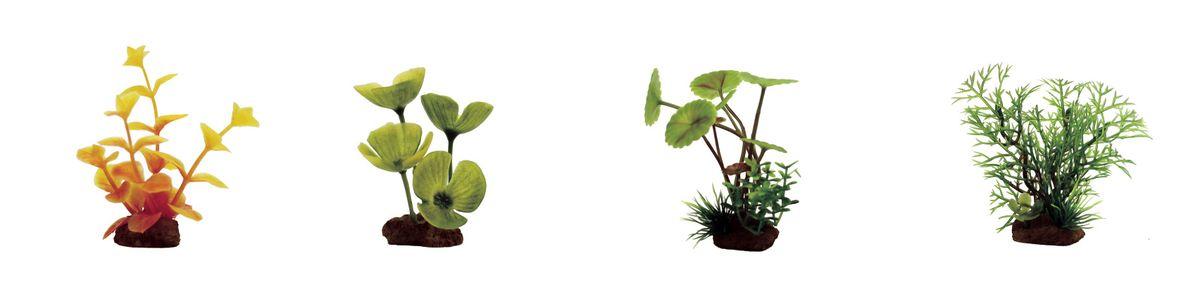 """Набор растений для аквариума ArtUniq """"Лизимахия оранжевая, марсилия, щитолистник, перистолистник"""", высота 7-10 см, 4 шт"""
