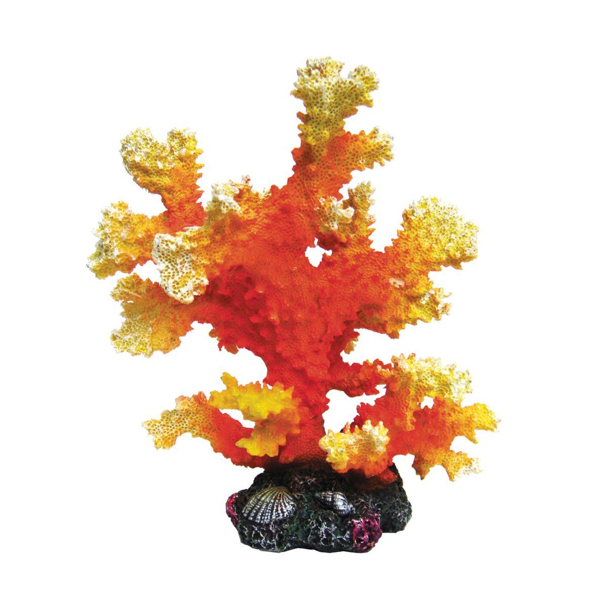 Декорация для аквариума ArtUniq Оранжевый коралл, 14,5 x 13 x 16 смART-2220921Декорация ArtUniq – это яркая и важная часть любой композиции, она поможет вдохнуть жизнь в ландшафт любого аквариума или террариума. Декорация безопасна для обитателей аквариума, она не меняет параметры воды. Многие обитатели аквариума часто используют декорации как укрытия, в которых они живут и размножаются. Благодаря декорациям ArtUniq вы сможете создать прекрасный пейзаж на дне вашего аквариума или террариума.
