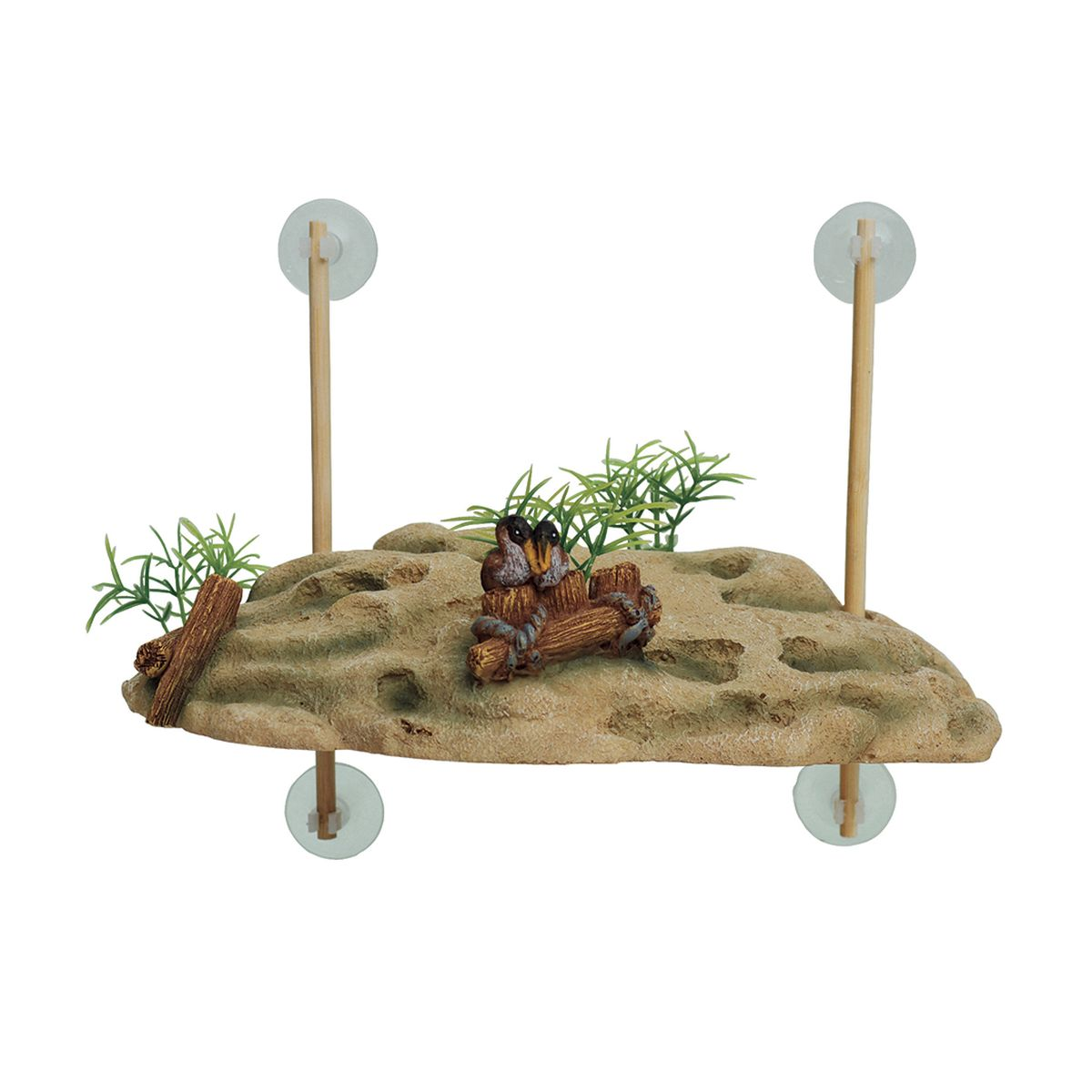 Декорация для аквариума ArtUniq Островок для черепах, на присосках, 24,5 x 11,5 x 7,5 см