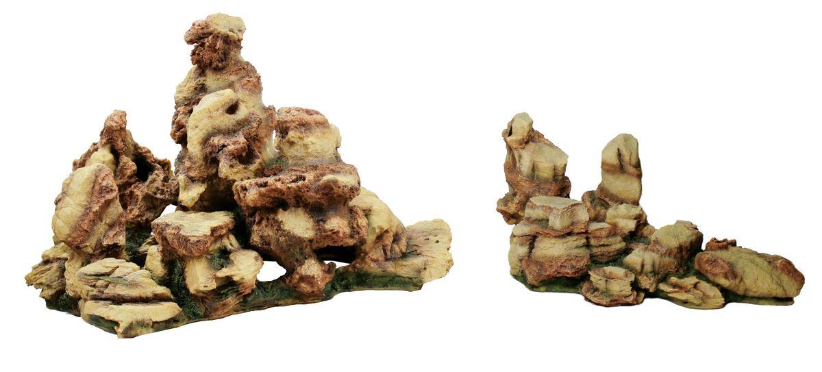 Декорация для аквариума ArtUniq Пестрые скалы, 65 x 45,5 x 42,1 смART-3116150Декорация ArtUniq – это яркая и важная часть любой композиции, она поможет вдохнуть жизнь в ландшафт любого аквариума или террариума. Декорация безопасна для обитателей аквариума, она не меняет параметры воды. Многие обитатели аквариума часто используют декорации как укрытия, в которых они живут и размножаются. Благодаря декорациям ArtUniq вы сможете создать прекрасный пейзаж на дне вашего аквариума или террариума.