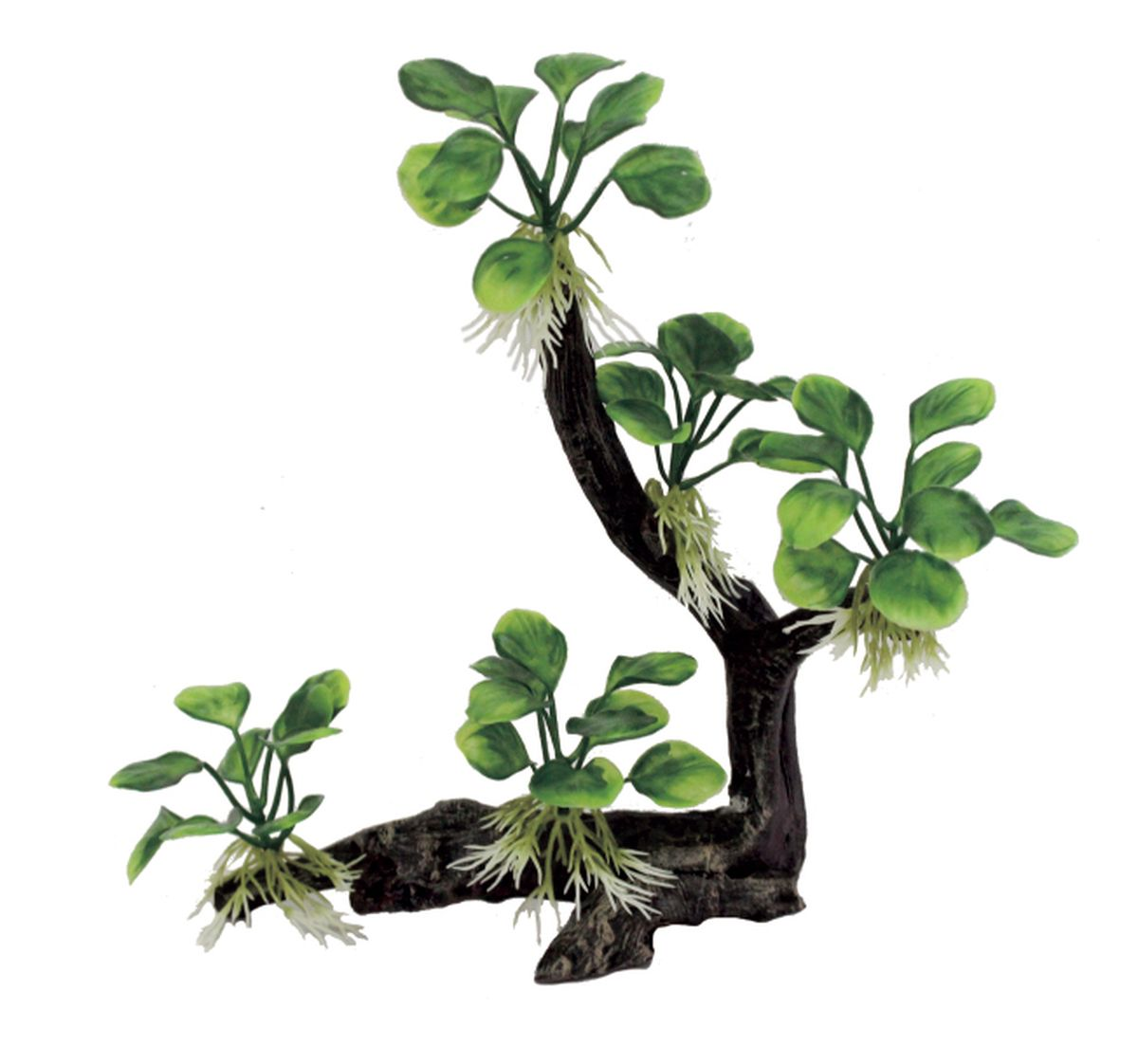 Декорация для аквариума ArtUniq Ветвистая коряга с анубиасом нана, 22,5 x 8,5 x 26 см