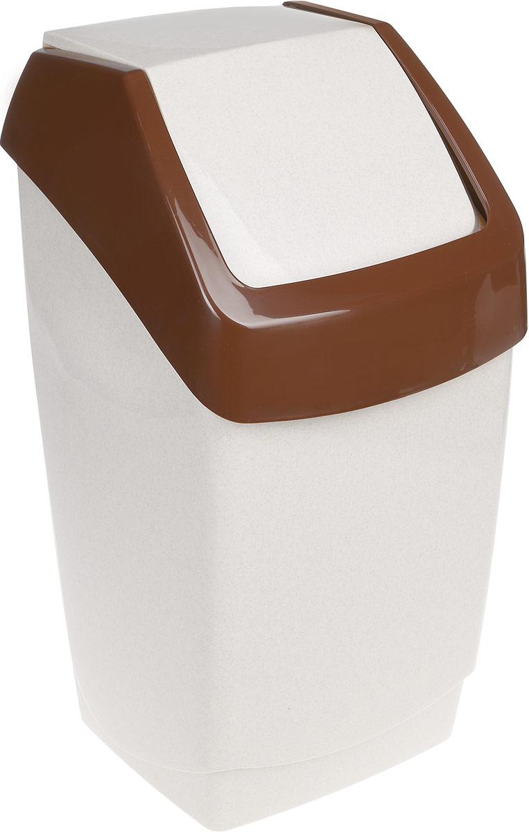 Контейнер для мусора Idea Хапс, цвет: бежевый, коричневый, 25 лМ 2472Контейнер для мусора Idea Хапс изготовлен из прочного полипропилена (пластика). Контейнер снабжен удобной съемной крышкой с подвижной перегородкой. Благодаря лаконичному дизайну такой контейнер идеально впишется в интерьер и дома, и офиса.Размер контейнера: 29 х 28 х 54 см.