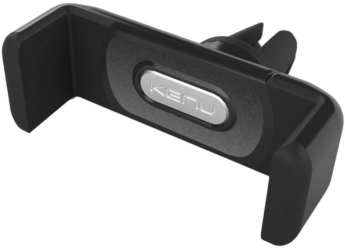 Kenu Airframe+, Black автомобильный держатель для устройств с экраном до 6AF2-KK-NAKenu Airframe+ представляет собой универсальный автомобильный держатель для фаблетов, крепящийся к вентиляционным дефлекторам вашего автомобиля, позволяя без затруднения пользоваться своим мобильным устройством. Благодаря этому держателю использовать коммуникатор в качестве навигатора или центрального звена мультимедийной системы вашего автомобиля станет как никогда просто.
