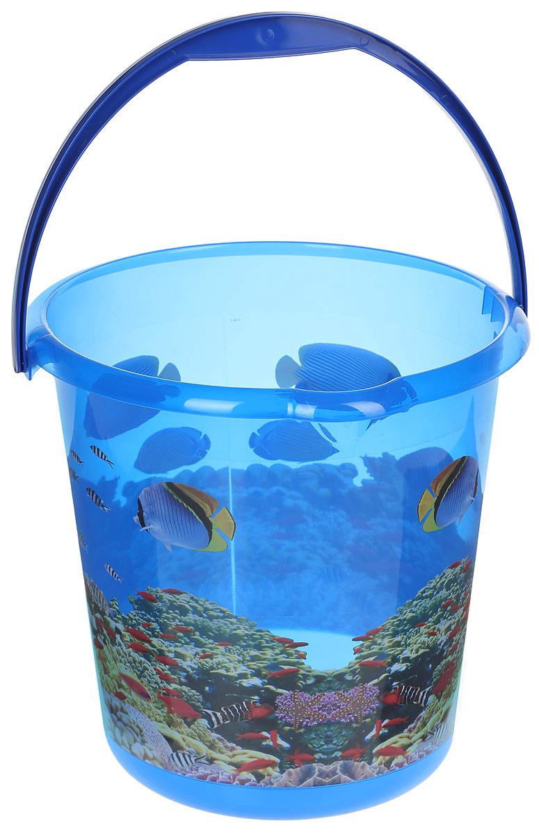 Ведро хозяйственное Idea Деко. Океан, 10 лМ 2426Ведро Деко. Океан изготовлено из высококачественного прочного полипропилена. Оно легче железного и не подвержено коррозии. Изделие украшено ярким и красочным рисунком. Ведро оснащено удобной пластиковой ручкой и носиком для слива жидкости. Такое ведро станет незаменимымпомощником в хозяйстве.Диаметр (по верхнему краю): 28,5 см.Высота: 28 см.