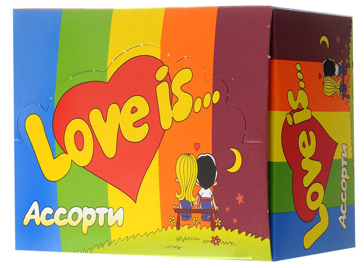 Love is Жевательная резинка Ассорти вкусов, 100 шт шебекинская гречка ядрица 900 г