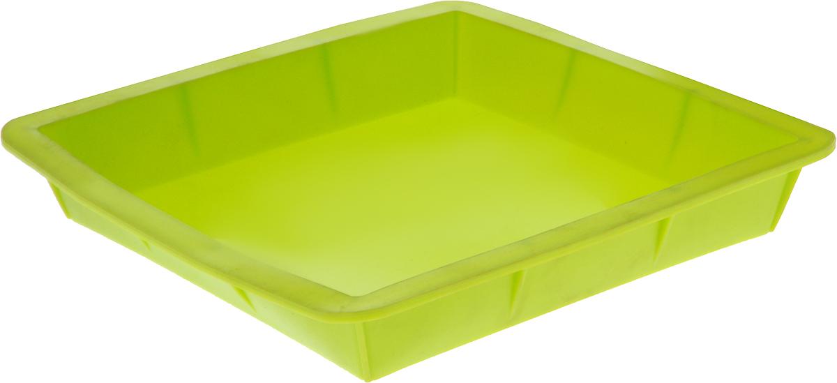 Форма для выпечки Calve, силиконовая, цвет: салатовый, 24 х 24 х 3,8 смCL-4602Форма для выпечки Calve выполнена из высококачественного 100% пищевого силикона. Идеально подходит для приготовления выпечки, десертов и холодных закусок. Форма выдерживает температуру от -40 до +240°C, обладает естественными антипригарными свойствами. Не выделяет вредных веществ при высоких температурах.Подходит для использования в духовке.Размер формы: 24 х 24 х 3,8 см.