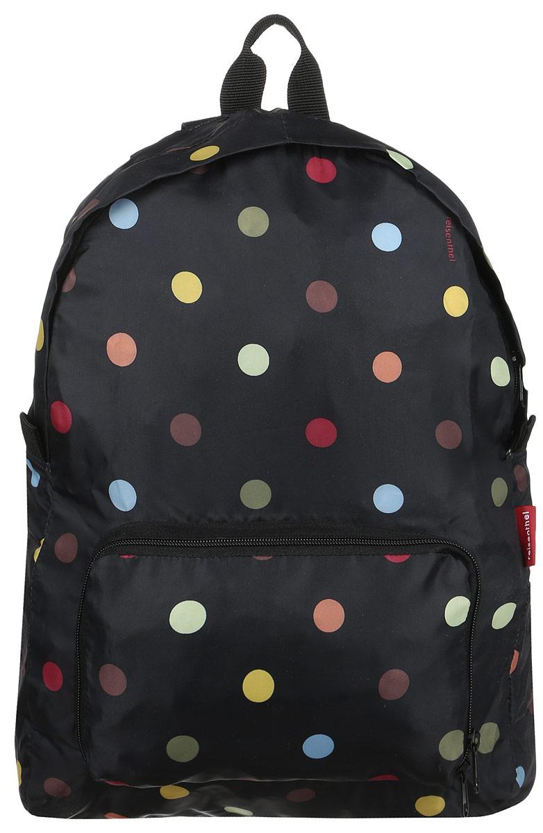 Рюкзак Reisenthel, складной, цвет: черный, мультиколор, 14 л. AP7009 reisenthel сумка allrounder l spots navy ci a pdd0