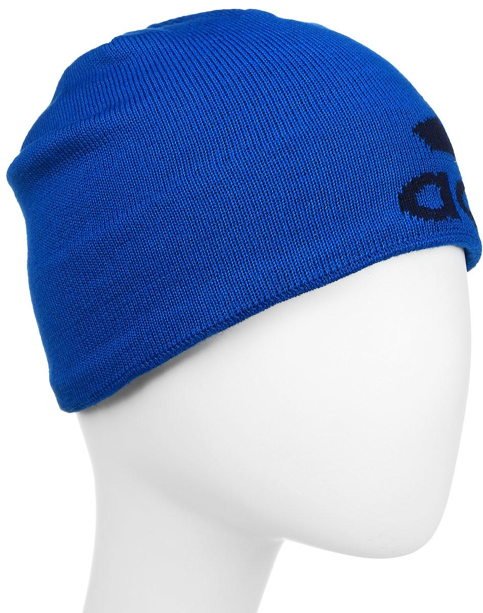 Шапка adidas Knit Logo Bean, цвет: голубой. S94130. Размер M (54)S94130Шапка Adidas Knit Logo Bean с мягкой флисовой подкладкой надежно сохраняет тепло, эффективно отводя излишки влаги. Сбоку модель оформлена логотипом adidas. Дышащая технология climawarm сохраняет максимум естественного тепла тела даже при отрицательной температуре.