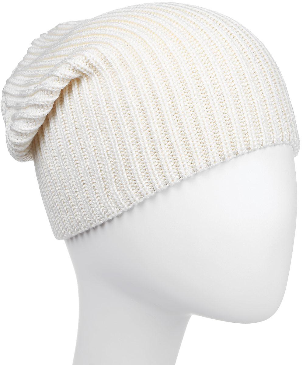 Шапка Kama Kamakadze, цвет: белый. K20_101. Размер универсальныйK20_101Шапка-бини из смесовой шерсти оформлена рельефным плетением и логотипом. Пряжа производится с максимальным акцентом на высокую устойчивость и долговечность.