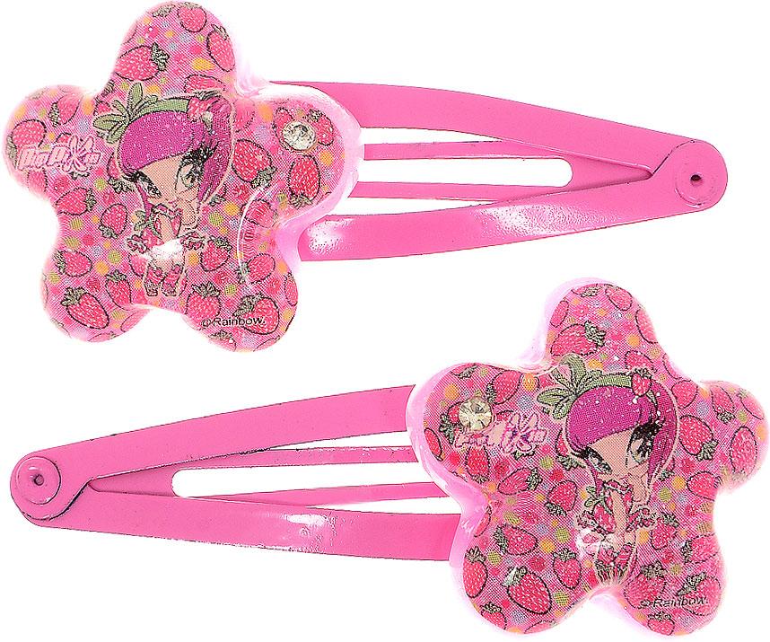 Заколка для волос для девочки PopPixie, цвет: розовый, 2 шт. 4131241312Заколка для волос PopPixie выполнена из металла и оформлена декоративнымэлементом. В комплект входят две заколки.