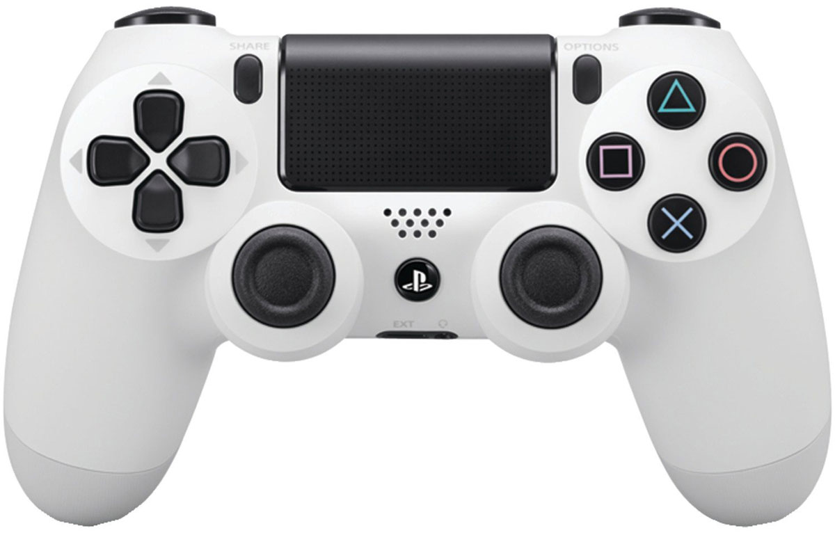 Sony DualShock 4 Cont, Glacier White геймпад для PS4