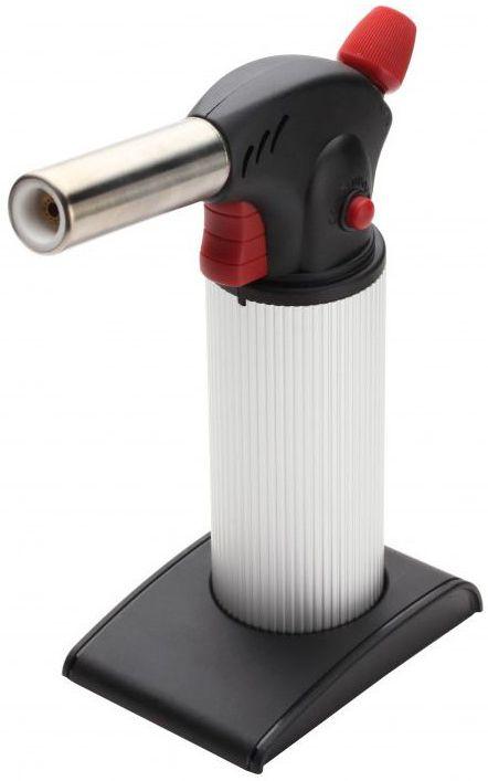 Горелка бутановая КВТ X-50066239Бутановая горелка КВТ X-500 - это простое и удобное в применении приспособление, которое работает набутане, подходящем для зажигалок и используется для нагрева термоусадочных трубок и муфт. Прочнаяконструкция расположена на съемной подставке. Горелка обладает регулировкой длины пламени и кнопкойнепрерывного горения, при зажиме которой пламя не гаснет. Максимальная температура пламени: 1300 °C. Увеличенная емкость баллона: 50 мл. Регулируемая длина пламени: от 100 до 180 мм. Время горения: 120 мин. Вес: 381 г. Габариты: 19 x 15,5 x 7,4 см. Диаметр баллона: 50 мм.