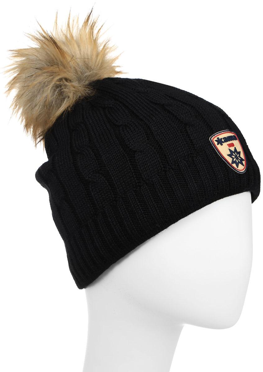 Шапка Kama Fashion Beanies, цвет: черный. A75_110. Размер универсальныйA75_110Теплая шапка с помпоном, с внутренней стороны шапки флисовая повязка для лучшего сохранения тепла.