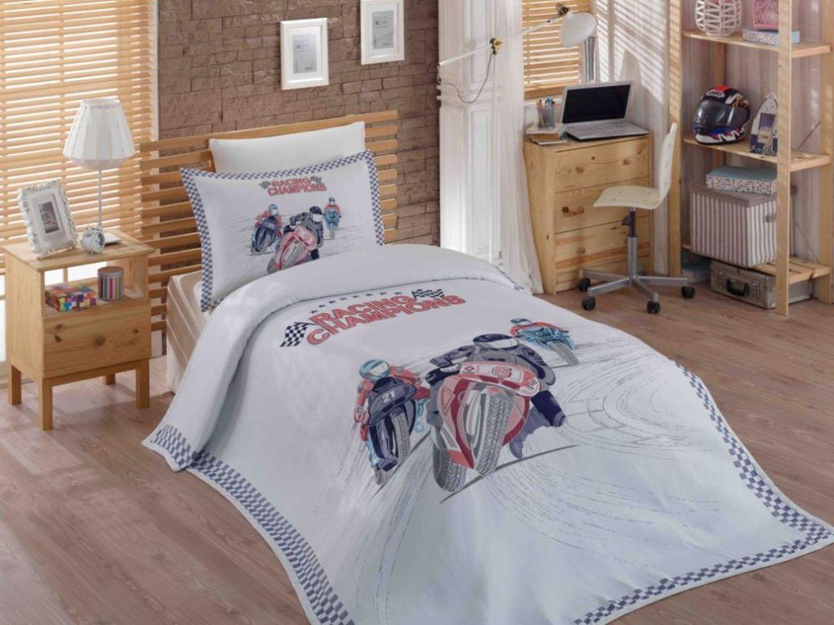 """Комплект для спальни Hobby Home Collection """"Le-Man"""": покрывало 180 х 240 см, простыня 160 х 240 см, 2 наволочки 50х70, 70х70"""