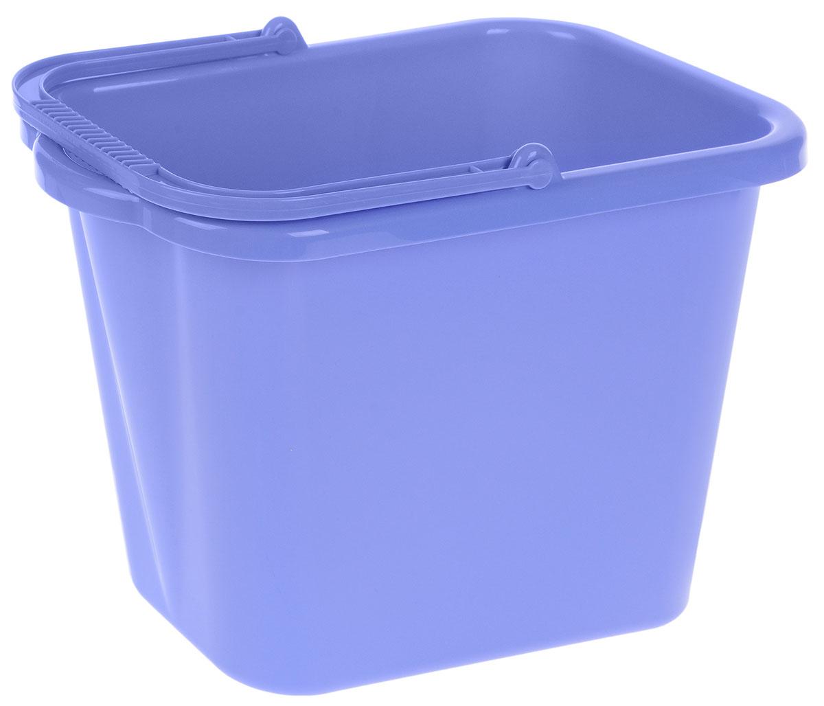Ведро хозяйственное Idea, прямоугольное, цвет: сиреневый, 9,5 лМ 2420Прямоугольное ведро Idea изготовлено из прочного пластика. Изделие порадует практичных хозяек. Ведро можно использовать для пищевых продуктов или для мытья полов. Для удобного использования ведро имеет пластиковую ручку и носик для выливания воды. Размер ведра (по верхнему краю): 36 х 21,5 см.Высота стенки: 25 см.