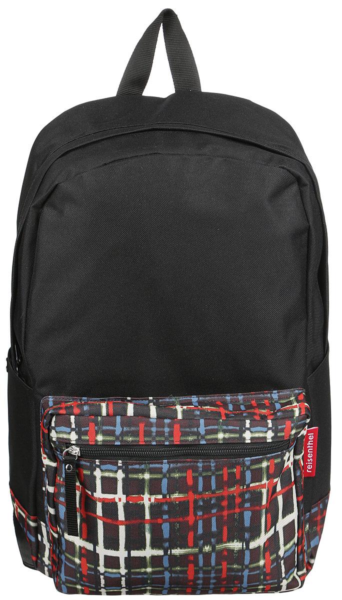 Рюкзак Reisenthel, цвет: черный, мультицвет. TA7036TA7036Практичный рюкзак Reisenthel выполнен из полиэстера и оформлен ярким принтом.Изделие содержит одно вместительное отделение, которое закрывается на застежку-молнию. Внутри расположен накладной карман и врезной карман на молнии. Снаружи, на лицевой стороне рюкзака, расположен накладной карман на молнии. По бокам изделия расположены два дополнительных накладных кармана, которые закрываются на кнопки. Рюкзак дополнен петлей для подвешивания и двумя широкими лямками, длина которых регулируется при помощи пряжек.Стильный рюкзак Reisenthel вместит в себя все необходимое и прекрасно дополнит ваш образ.