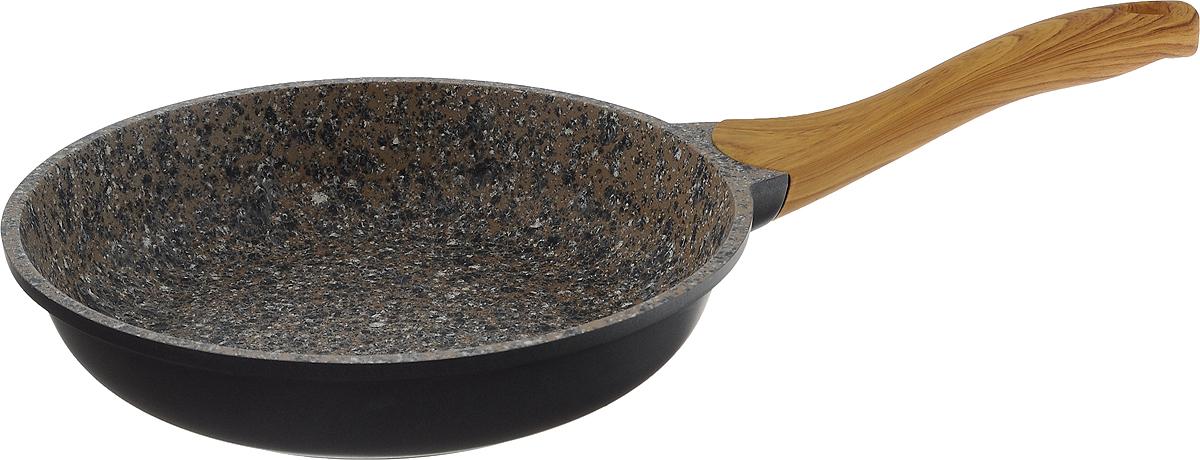 Сковорода Termico Granito, с антипригарным покрытием. Диаметр 24 см220441Сковорода Termico Granito изготовлена из литого алюминия с внутреннимантипригарным покрытием из керамогранита. Изделие оснащено эргономичной пластиковой ручкой под дерево с покрытием soft-touch. Материал сковороды не содержит вредных веществ, в том числе ПФОА, свинца и кадмия. Сковорода обладает такими качественными характеристиками, как высокая теплоотдача, долговечность и надежность. Можно использовать на газовых, электрических, стеклокерамических плитах, включая индукционные. Подходит для мытья в посудомоечной машине.Высота стенки сковороды: 5 см. Длина ручки: 19,5 см.