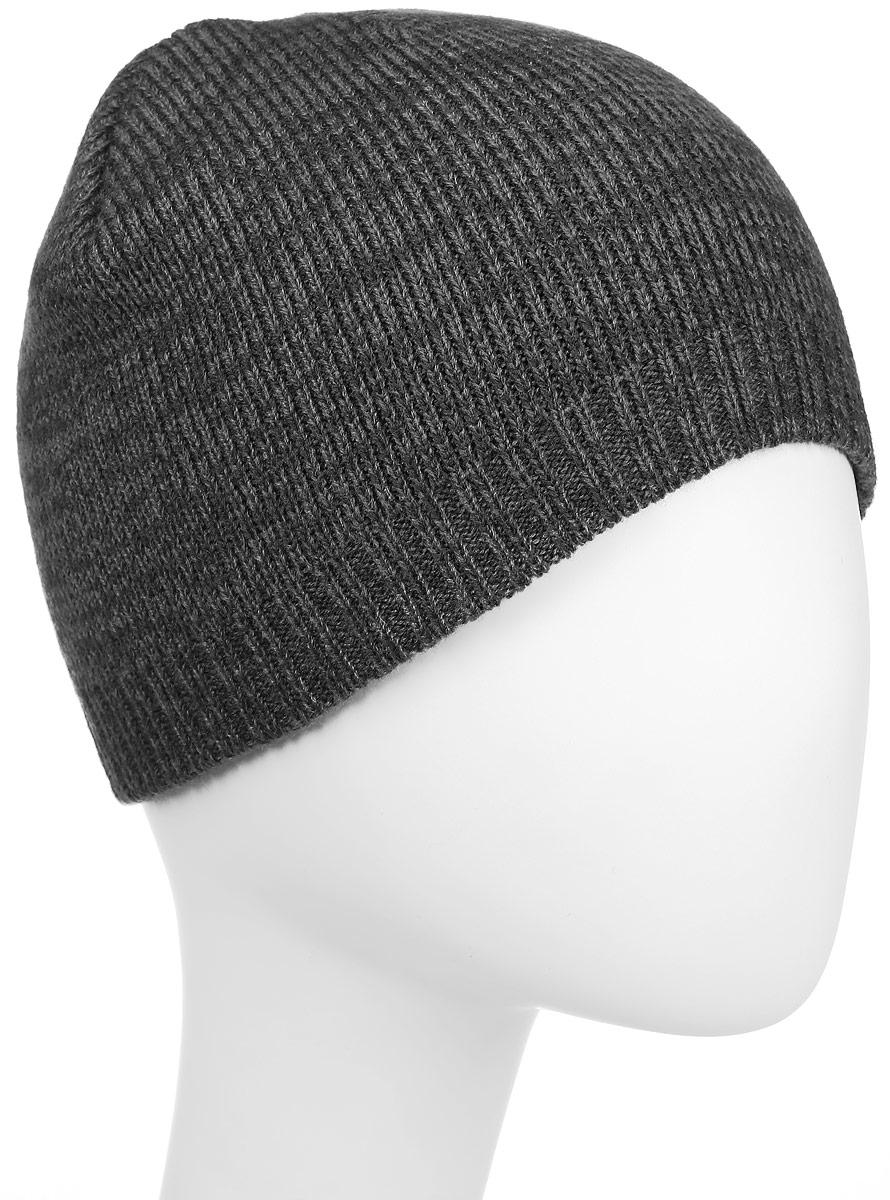 Шапка Converse Twisted Knit Beanie, цвет: темно-серый, серый. 527451. Размер универсальный527451Стильная вязаная шапка Converse Twisted Knit Beanie дополнит ваш наряд и не позволит вам замерзнуть в прохладное время года. Шапка выполнена из высококачественного акрила. Модель понизу связана резинкой. Спереди шапка оформлена фирменной нашивкой.