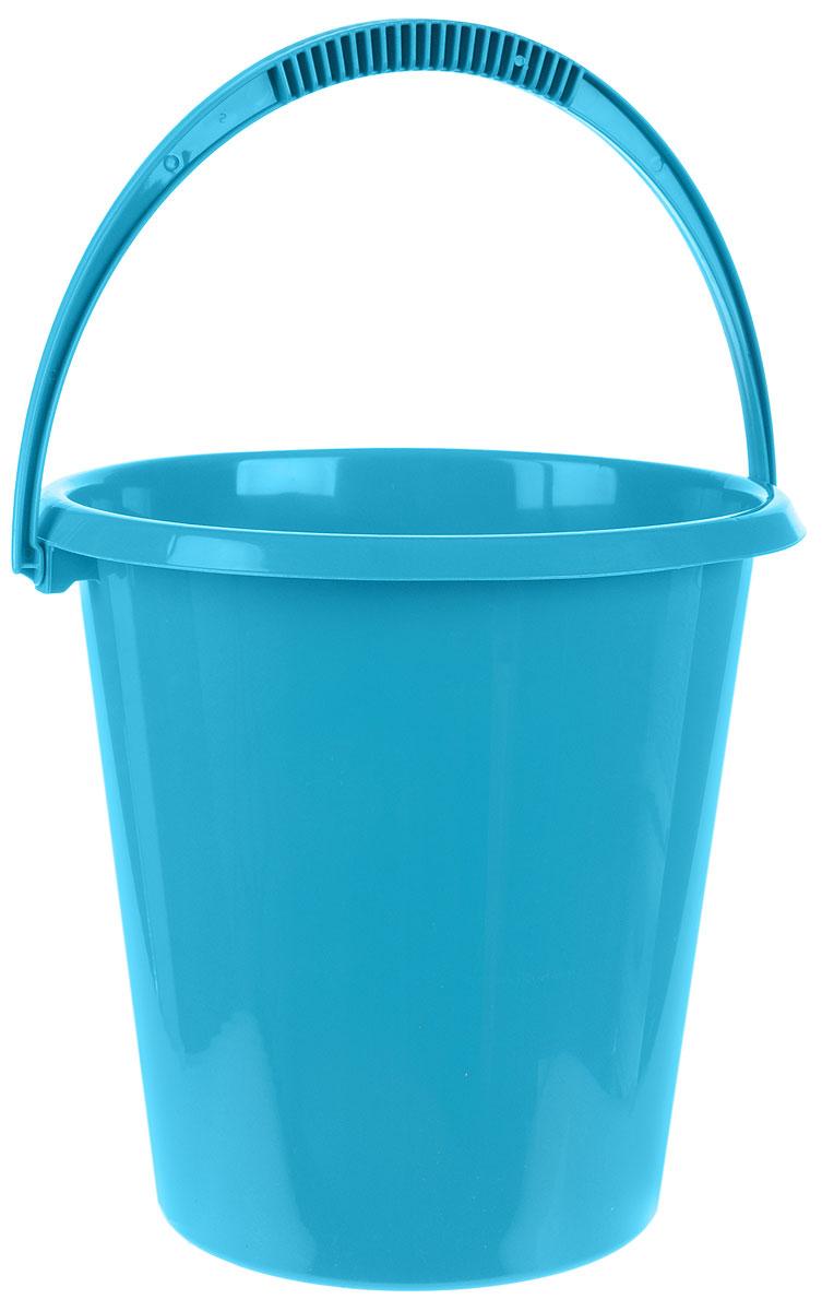 Ведро хозяйственное Idea, цвет: бирюзовый, 11 лМ 2408Ведро Idea изготовлено из высококачественного прочного пластика. Оно легче железного и не подвержено коррозии. Ведро оснащено удобной пластиковой ручкой. Имеются мерные деления. Такое ведро станет незаменимымпомощником в хозяйстве.Диаметр (по верхнему краю): 29 см.Высота: 29 см.