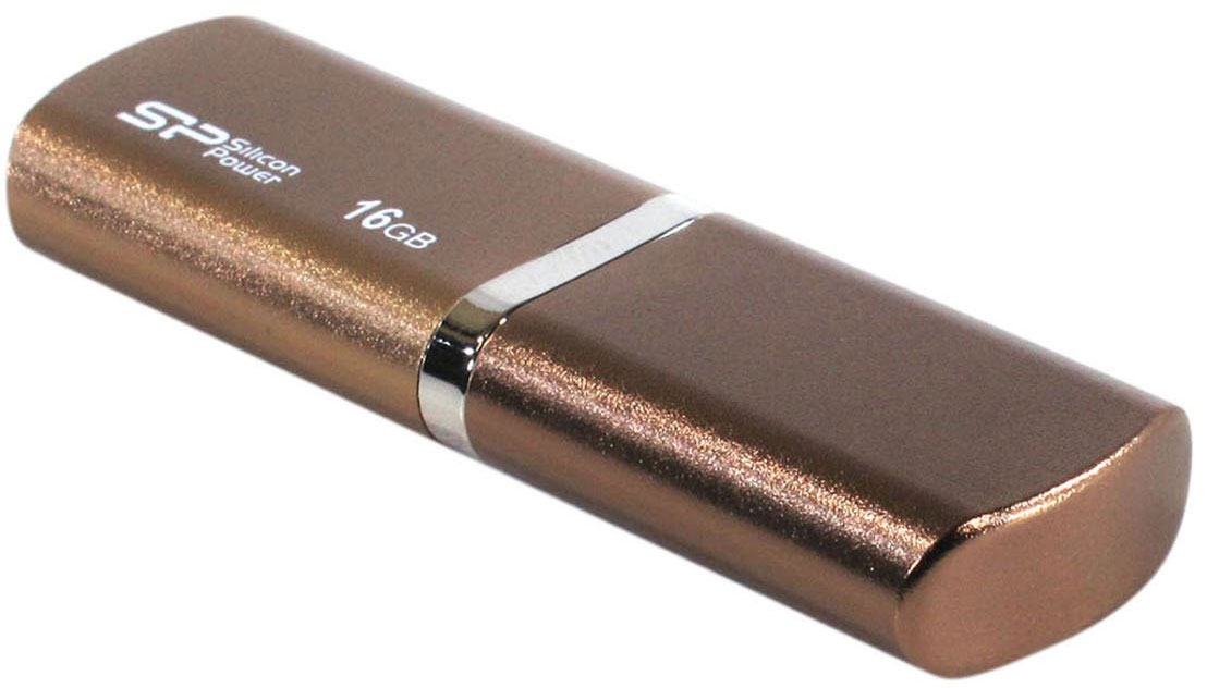 Silicon Power Luxmini 720 16GB, Bronze (SP016GBUF2720V1Z)SP016GBUF2720V1ZSilicon Power LuxMini 720 отличается уникальным модным дизайном металлического корпуса с блестящейповерхностью и плавными дугообразными краями. Дизайн накопителя и новые цвета - персиковый, ярко-голубой ибронзовый, призваны выразить индивидуальность пользователей.Модель Silicon Power LuxMini 720 удобна в переноске, пользователи могут использовать накопитель в качествемодного аксессуара на связке ключей или на цепочке. USB накопитель доступен емкостью от 4 ГБ до 32 ГБ иотвечает требованиям различных пользователей.