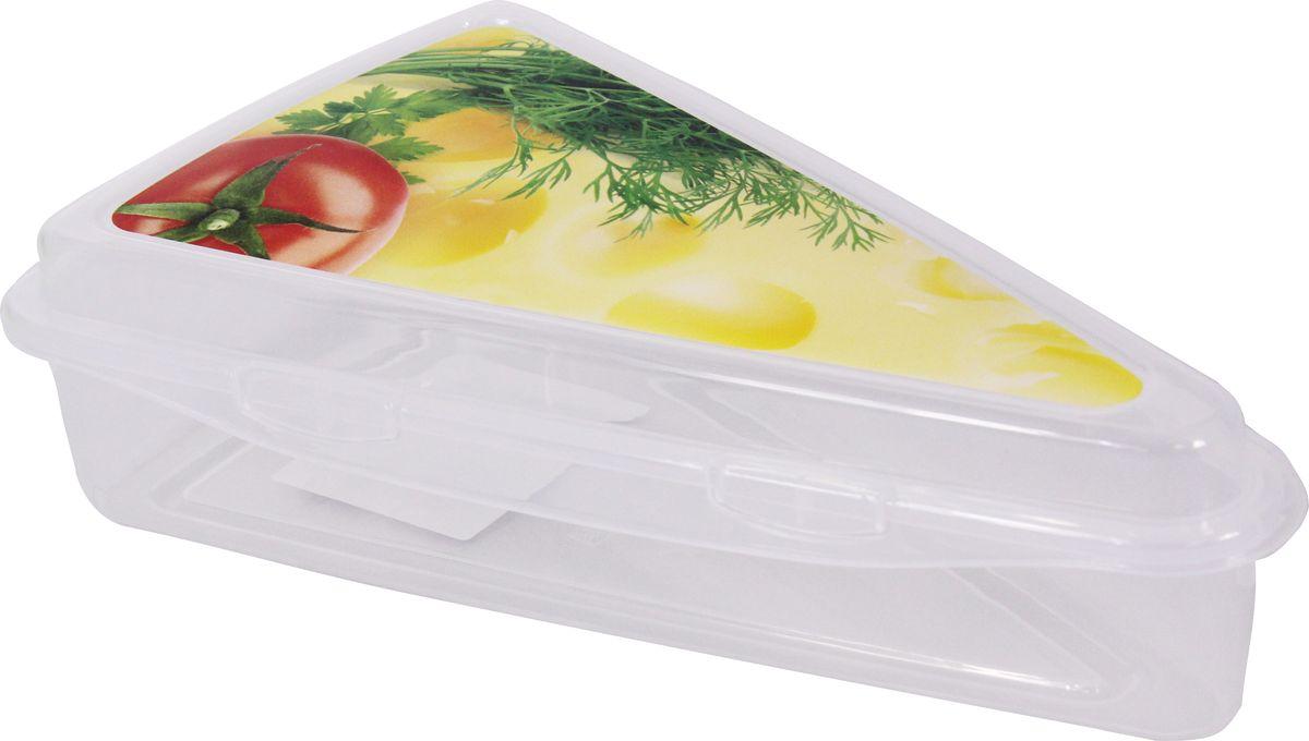 """Контейнер """"Idea"""", изготовленный из пластика, предназначен для хранения сыра. В таком контейнере сыр долго останется свежим."""