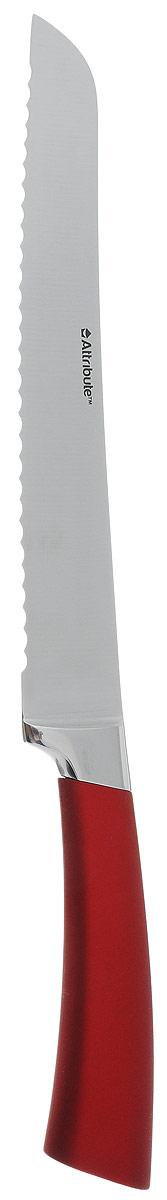 Нож для хлеба Attribute Knife Tango, длина лезвия 20 смAKT220Нож для хлеба Attribute Knife Tango изготовлен из первоклассной нержавеющей стали и предназначен для нарезки хлеба. Лезвиесделано из высококачественной хромо-молибденово-ванадиевой стали из Германии. Технология холодной закалки обеспечивает долгую заточку и повышенную устойчивость к коррозии. Такой нож станет прекрасным дополнением к коллекции ваших кухонных аксессуаров и не займет много места при хранении. Общая длина ножа: 33,5 см.