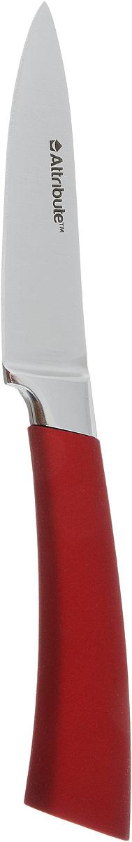 """Нож Attribute Knife """"Tango Gold"""" изготовлен из первоклассной нержавеющей стали и предназначен для чистки овощей и фруктов. Лезвие  сделано из высококачественной хромо-молибденово-ванадиевой стали из Германии. Технология холодной закалки обеспечивает долгую заточку и повышенную устойчивость к коррозии. Такой нож станет прекрасным дополнением к коллекции ваших кухонных аксессуаров и не займет много места при хранении. Общая длина ножа: 19,5 см."""