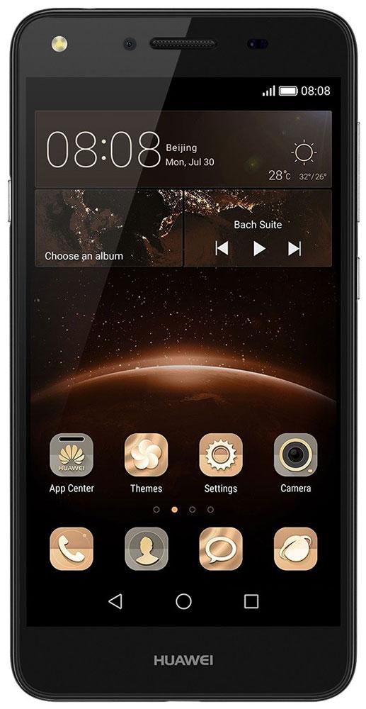 Huawei Y5 II (CUN-U29), Black51050LRKHuawei Y5 II - стильный и недорогой смартфон с широкими возможностями. Устройство приятно держать в руке. Черытехъядерный процессор MediaTek MT6582 с частотой 1.3 ГГц и оперативная память 1 ГБ позволяют использовать все современные мобильные приложения. Операционная система Android с фирменным пользовательским интерфейсом EMUI от Huawei предоставляет пользователю новый графический интерфейс, современный дизайн иконок и простоту управления.Коммуникационные возможности представлены Bluetooth 4.0, Wi-Fi 802.11 b/g/n при помощи которых можно воспользоваться беспроводной гарнитурой или подключиться к интернету. Также Huawei Y5 II не даст вам заблудится в городе и всегда укажет дорогу благодаря функции GPS. Модель оборудована стандартными разъемами - 3.5 мм для подключения наушников и microUSB - для зарядки и присоединения к USB-порту компьютера.Huawei Y5 II также обладает функциональным мультимедиа-плеером, способным воспроизводить аудио и видео-файлы самых популярных форматов. Девайс обладает двумя слотами для SIM-карт, слотом для карт памяти microSD (до 32 ГБ).Умная кнопка Easy Key поддерживает три вида нажатий: одиночное, двойное и нажатие с удержанием. Экономьте время, настроив часто используемые функции и приложения на умной кнопке. Продуманное расположение кнопки обеспечивает удобство работы одной рукой.Смартфон оснащен двумя камерами: основной на 8 мегапикселей и фронтальной на 2 мегапикселя. Основная камера отлично справляется со съемкой в слабо освещенных местах, а фронтальная идеально подойдет для видеозвонков и селфи.Телефон сертифицирован EAC и имеет русифицированный интерфейс меню, а также Руководство пользователя.