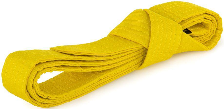 Пояс для кимоно Jabb, цвет: желтый. JE-2783_339685. Размер 4 см х 260 смJE-2783_339685Пояс Jabb - универсальный пояс для кимоно. Пояс выполнен из плотного хлопкового материала с многорядной прострочкой.