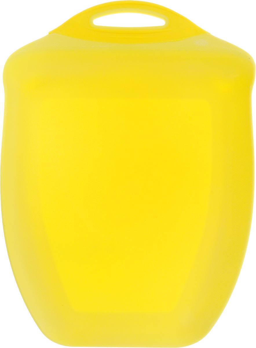 Доска разделочная Menu Рататуй, цвет: желтый, 32,5 х 23,5 х 3,5 смRTT-32_желтыйРазделочная доска Menu Рататуй выполнена из высококачественного пищевого пластика и предназначена для разделывания мяса, рыбы, нарезки овощей, фруктов, колбас, хлеба и сыра. Доска долговечна, износостойка и прекрасно подойдет для ежедневного использования. Поверхность доски не тупит лезвия ножей при использовании и не впитывает запахи продуктов. В конструкции доски предусмотрены специальные небольшие бортики, которые предотвратят случайное ссыпание продуктов с доски, но не будут мешать при нарезке. Для удобства хранения доска имеет отверстие для подвешивания в любое место на кухне.Мыть только вручную. Не применяйте мля мытья и чистки абразивные средства и сильнодействующие химикаты, это может привести к повреждению изделия.Размеры изделия (с учетом бортов): 32,5 х 23,5 х 3,5 см.