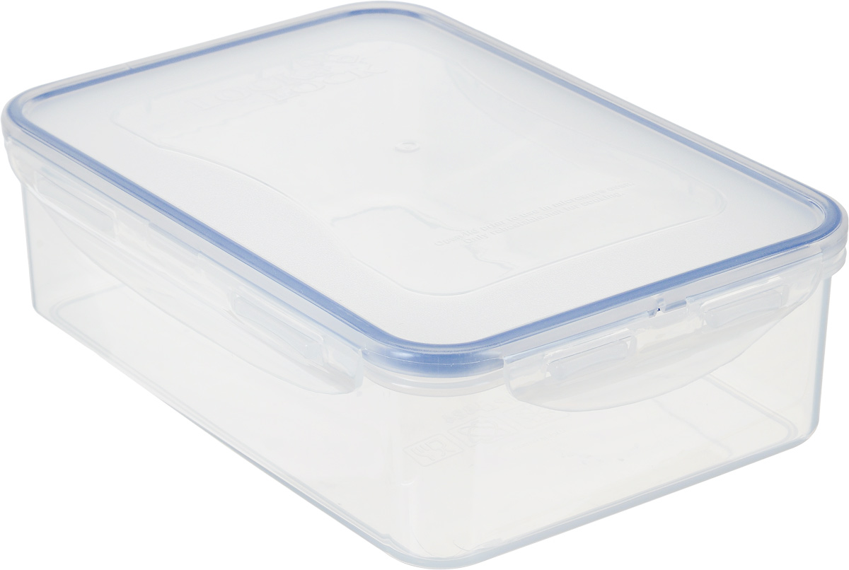Контейнер пищевой Lock&Lock Classics, 1,6 лHPL824Контейнер Lock&Lock Classics изготовлен из высококачественного пластика, который не содержит Бисфенол-А, не выделяет вредных веществ. Герметичная пластиковая крышка снабжена уплотнительной резинкой, надежно закрывается с помощью четырех защелок. Контейнер с абсолютной непроницаемостью воды, воздуха и любых запахов. Обеспечивает длительное сохранение свежести продуктов. Подходит для мытья в посудомоечной машине, хранения в холодильных и морозильных камерах, использования в микроволновых печах.