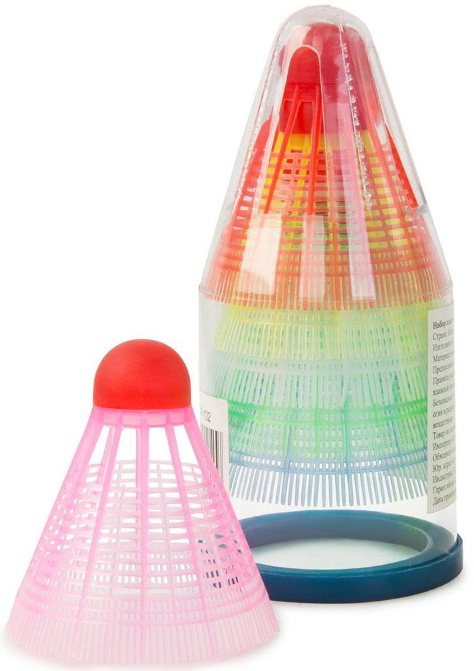 Набор воланов Start Up Р102. 6 шт244764Набор для бадминтона Start Up Р102 включает в себя 6 разноцветных воланов. Они выполнены из пластика.Этот набор пригодится для настоящих любителей игры в бадминтон.