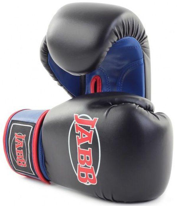 Перчатки боксерские Jabb JE-2015, цвет: черный, синий, 10 oz2208YUБоксерские перчатки Jabb JE-2015 предназначены для начинающих спортсменов. Перчатки выполнены из искусственной кожи. Наполнитель перчаток - ударопоглощающая высокотехнологичная формованная IMF пена. Внутренний материал - водоотталкивающий трикотаж. Перчатки имеют эластичный манжет на застежке-липучке Velcro.
