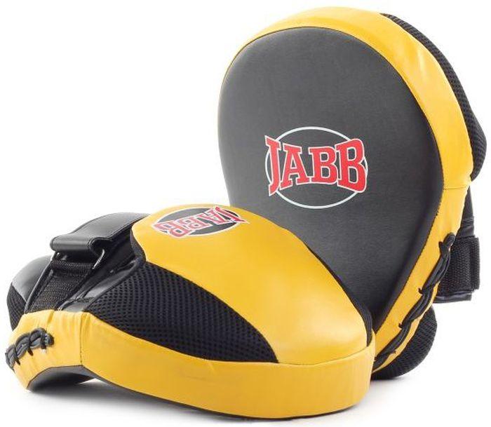 Лапа боксерская Jabb JE-2194, цвет: черный, желтый, 2 шт311055Лапа боксерская (пара) Jabb JE-2194 рекомендована для отработки ударов руками тренирующимся спортсменам. Очень удобна и отвечает всем современным требованиям. Застежка: Velcro для фиксации на руке. Материал: синтетическая кожа, полиуретан. Наполнитель: 4-х слойная синтетическая пена для гашения силы удара. Рекомендованы: для начинающих спортсменов.