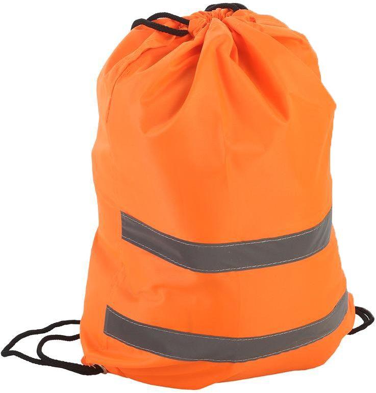 Мешок сигнальный для обуви , 32 х 42 см, цвет:  оранжевый.  333-204 Сигнальный мешок для обуви выполнен из текстиля. Поперек него...