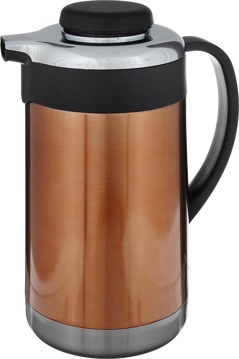 Термо-кофейник Termico, 1,5 л250088Термо-кофейник Termico предназначен для хранения горячих или холодных напитков. Изготовлен из высококачественной нержавеющей стали, которая обладает высоким уровнем качества и абсолютно безопасна для здоровья человека. Кофейник оснащен удобной эргономичной ручкой. Пластиковая крышка с силиконовой прослойкой обеспечивает надежное закрытие термоса и гарантирует сохранность напитка в процессе транспортировки. Благодаря наличию металлической колбы и хорошей вакуумной изоляции изделие сохраняет напитки горячими до 8 часов, а холодными до 24 часов.Такой термо-кофейник непременно пригодится во время проведения отдыха на природе, путешествии, рыбалке или просто дома.Диаметрпо верхнему краю: 4 см.Диаметр основания: 12 см.Высота (с учетом крышки): 24,5 см.