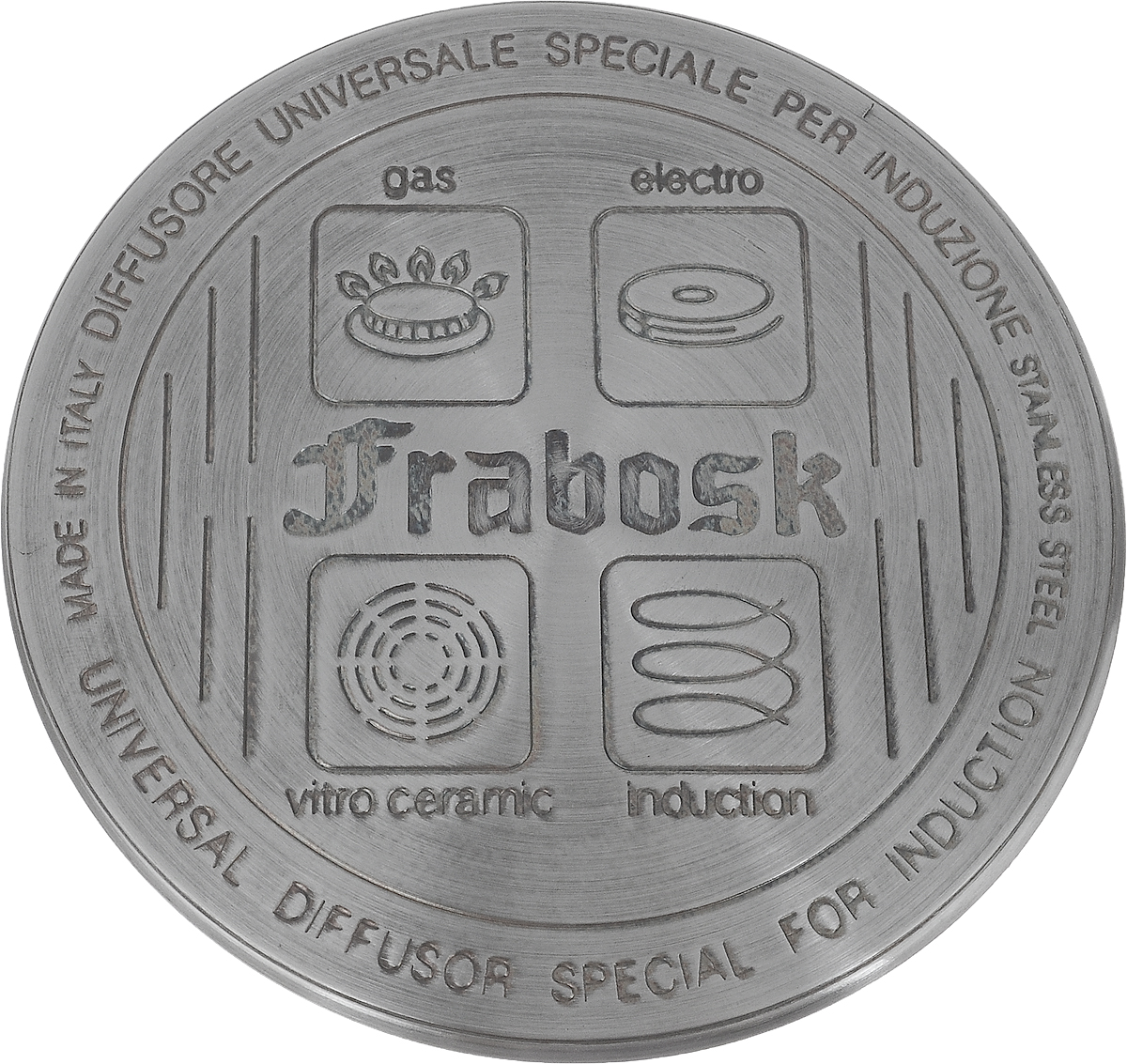 Диск для индукционных плит Frabosk, диаметр 12 см диск frabosk д индукционных плит 12см нерж сталь