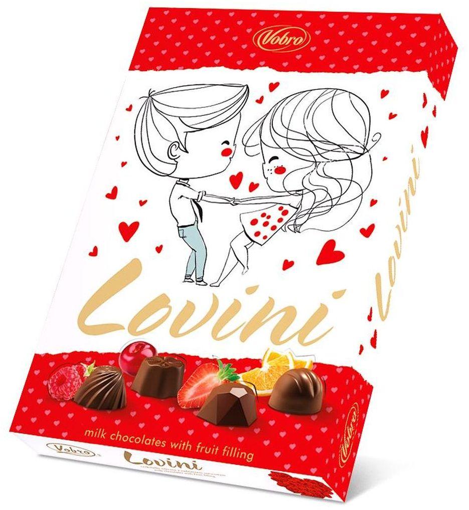 Vobro Lovini Ловини набор шоколадных конфет, 170 г шоколадные годы конфеты ассорти 190 г