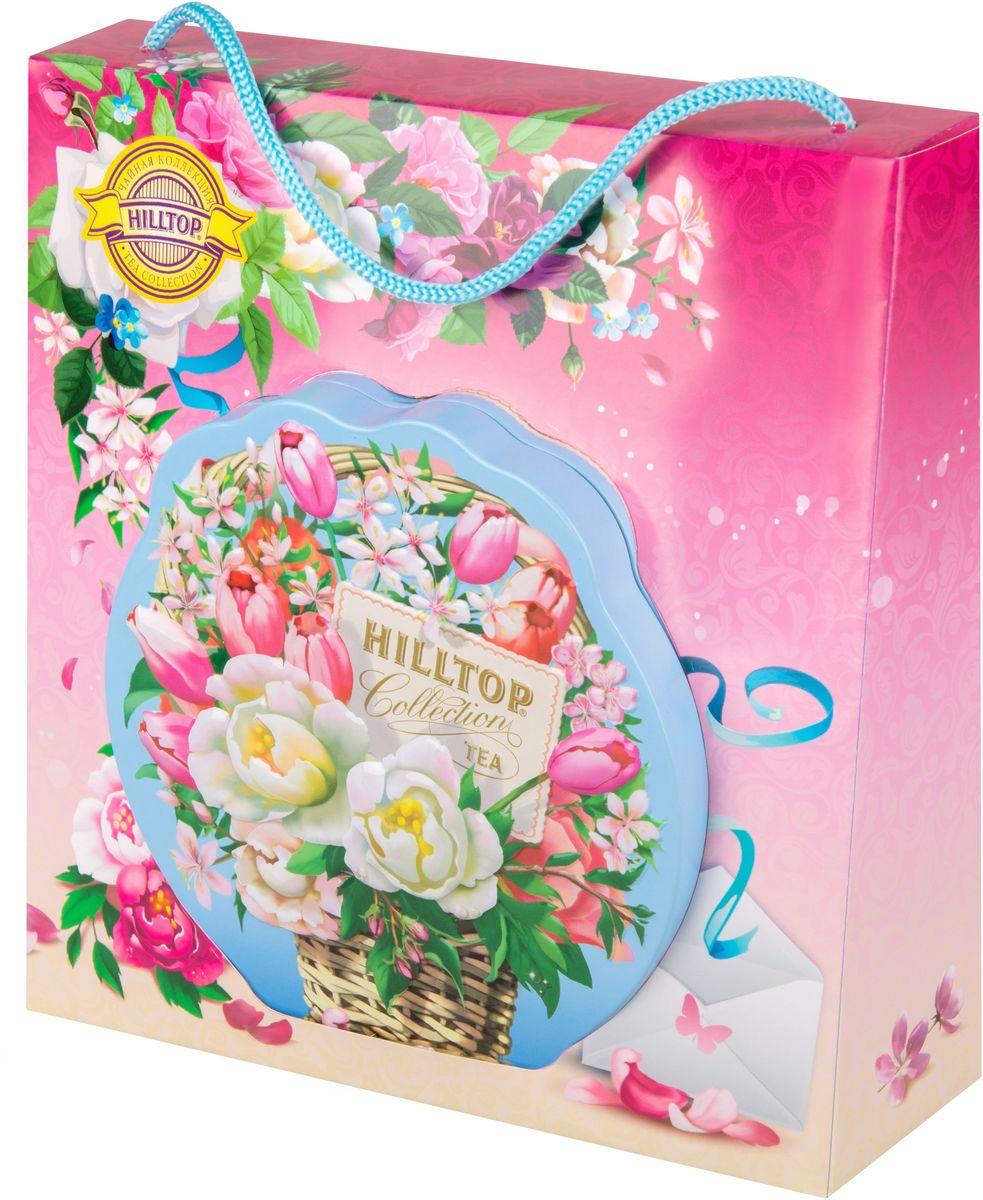 Hilltop Цветочная корзинка чай Молочный оолонг листовой в футляре, 80 г hilltop люблю листовой чай молочный оолонг 50 г