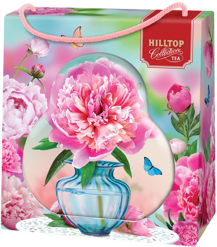 Hilltop Пион черный листовой чай Подарок Цейлона в футляре, 50 г чай hilltop чай hilltop подарок цейлона 100г муз колокольчик музыка любви