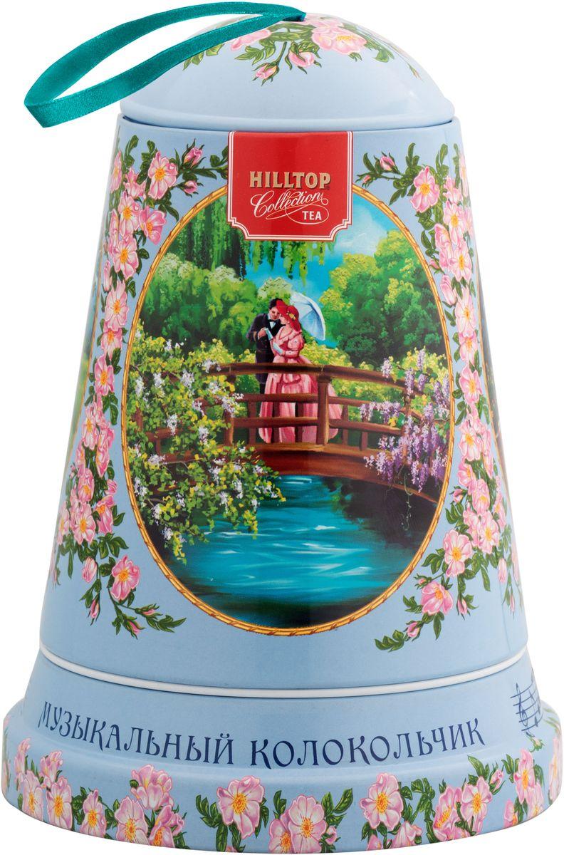 Hilltop Музыка любви черный листовой чай Подарок Цейлона в музыкальном колокольчике, 100 г4607099307964Чай Подарок Цейлона - крупнолистовой цейлонский черный чай с глубоким, насыщенным вкусом.