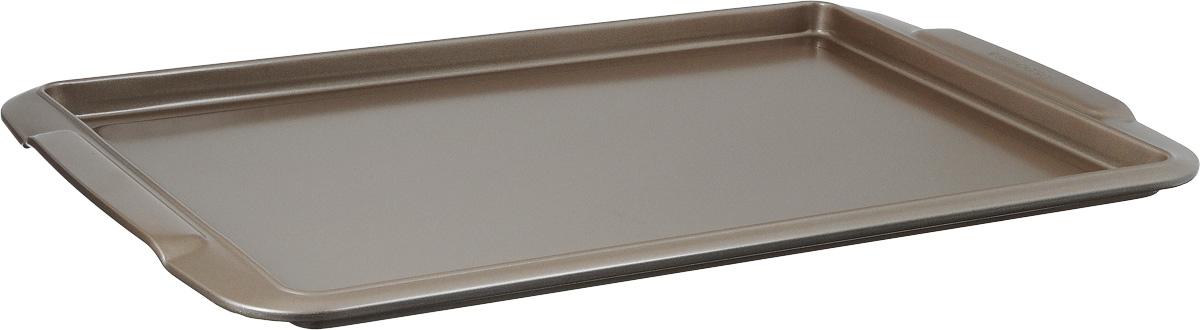 Противень Tescoma Delicia, прямоугольный, с антипригарным покрытием, 43 x 27 х 1,5 см623512Противень Tescoma Delicia, выполненный из высококачественной нержавеющей стали с антипригарным покрытием, идеально подойдет для приготовления домашней выпечки.Технология антипригарного покрытия способствует оптимальному распределению тепла. Противень легко чистить и мыть. Подходит для использования во всех типах духовых шкафов.Размер противня (с учетом ручек): 43 x 27 х 1,5 см.Внутренний размер противня: 37 х 25 х 1,5 см.