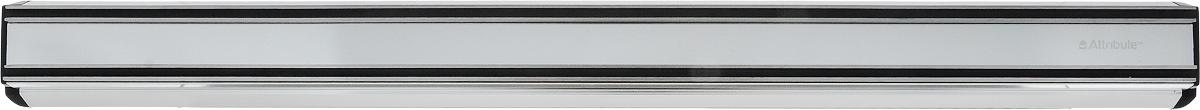 """Магнитный держатель """"Attribute Knife"""" выполнен из пластика, нержавеющей стали и магнита. Изделие предназначено для размещения стальных ножей, кухонной утвари, отверток, деталей, ключей и других металлических аксессуаров. Он пригодится дома, на работе и в мастерской. Держатель крепится к стене при помощи двух шурупов с дюбелями (входят в комплект). С помощью держателя можно сэкономить пространство рабочей зоны на кухне, привести в порядок инструменты и детали. Магнитный держатель отличается долговечностью, гигиеничностью и стойкостью к механическим повреждениям. Строгий классический дизайн изделия прекрасно подойдет к любой кухне. Использование этого приспособления предохранит кухонные ножи от царапин при контакте друг с другом, а значит, позволит дольше сохранить острую заточку ножей.  Длина: 45 см."""