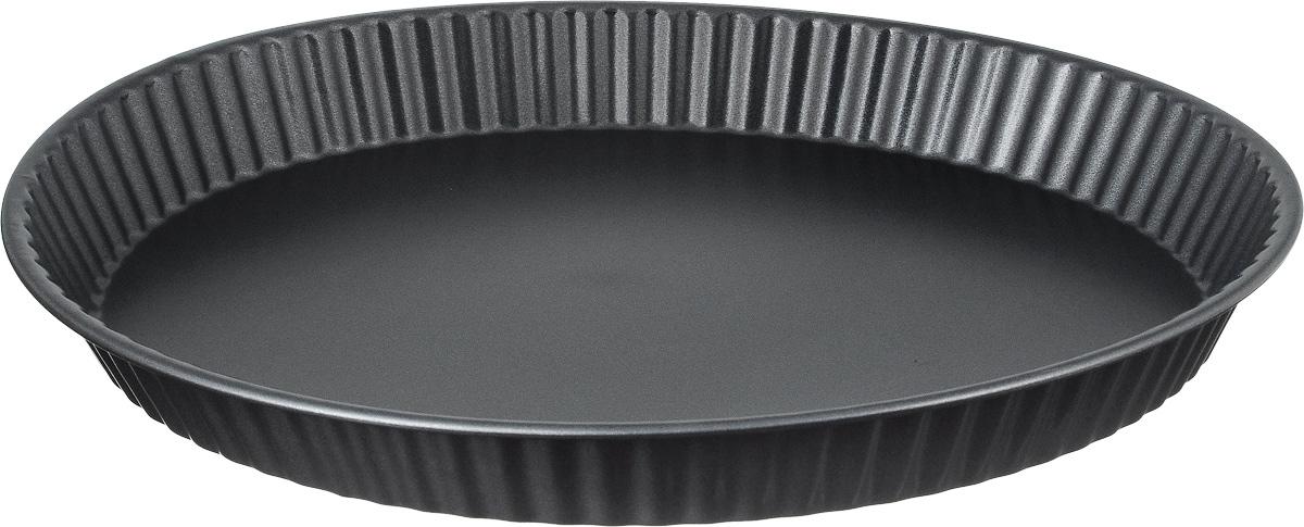 Форма для пирога Termico Classico, с антипригарным покрытием, диаметр 31 см220420Форма для пирога Termico Classico выполнена из углеродистой стали с внутренним антипригарным покрытием с рифлеными бортами. Углеродистая сталь - это прочный, легкий и долговечный материал, который прекрасно проводит тепло, помогая выпечке хорошо подходить и равномерно пропекаться, и гарантирует всегда великолепный результат. Слой антипригарного покрытия полностью устраняет пригорание пирога и его прилипание к стенкам и дну. Выпечка легко извлекается из формы. Экологически безопасное антипригарное покрытие не содержит PFOA, свинца и кадмия.Изделие нельзя мыть в посудомоечной машине, нельзя использовать в микроволновой печи. Использовать только пластиковые аксессуары. Форма выдерживает температуру до 250°C. Внутренний диаметр формы: 26 см.Общий размер формы: 31 х 31 х 3,5 см.
