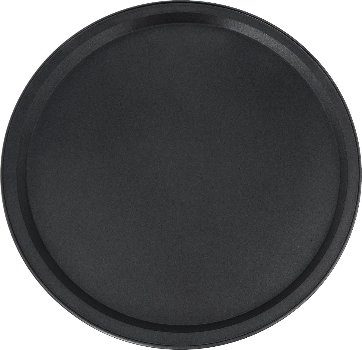 Форма для пиццы Termico Classico, с антипригарным покрытием, диаметр 33 см220422Круглая форма для пиццы Termico Classico изготовлена из углеродистой стали с антипригарным покрытием. Покрытие экологичное и безопасное для здоровья, оно не содержит примеси PFOA, свинца и кадмия. Благодаря антипригарному покрытию нет необходимости использовать подсолнечное масло. Пища не пригорает и не прилипает к стенкам, легко достается из формы, сохраняя при этом аккуратный внешний вид. Изделие прослужит долго и обеспечит легкое и удобное приготовление вашей любимой пиццы. Можно использовать в духовом шкафу при температуре до 250°С. Внутренний диаметр формы: 30,5 см.Размер формы с учетом ручек: 33 х 33 х 1,8 см.