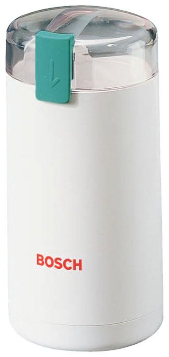 Bosch MKM 6000 кофемолкаMKM6000Классический дизайн и элегантный белый цвет позволят кофемолке Bosch MKM 6000 отлично вписаться винтерьер любой современной кухни, а долговечность и простота в использовании делают эту модель одной изсамых востребованных на рынке. Дно чаши кофемолки имеет специальный наклон, благодаря чемуобеспечивается интенсивное перемешивание зерен и равномерный помол. Степень помола регулируется временем работы – чем дольше работает кофемолка, тем сильнее будутизмельчены зерна. Максимальный размер порции зерен для помола составляет 75 граммов – этого достаточнодля приготовления 7-8 чашек кофе. Безопасность работы прибора обеспечивает функция блокировки при снятойкрышке.