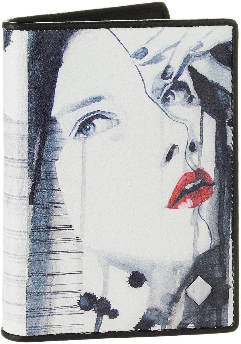 Обложка для автодокументов женская Flioraj, цвет: белый, серо-синий, красный. 136136-BeautyЖенская обложка для автодокументов Flioraj выполнена из натуральной кожи и оформлена изображением девушки.Изделие раскладывается пополам. Обложка содержит съемный блок из шести прозрачных файлов из мягкого пластика, один из которых формата А5 и два боковых прозрачных кармана.Изделие упаковано в фирменную коробку.Модная обложка для автодокументов поможет сохранить их внешний вид и защитить от повреждений.